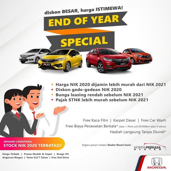 Promo End Of Year Special Diskon Besar Di Dealer Honda Klaten